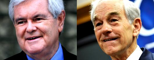 Romney's 2012 Opponents:  Gingrich and Paul