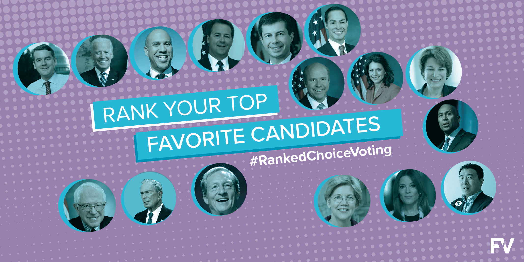 Rank your top favorite Democratic Presidential  candidates