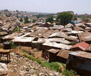 It is estimated that roughly 1 million people live in Kibera