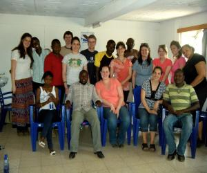 American University students meet residents of Kibera (Photo by Dayna Hansberger