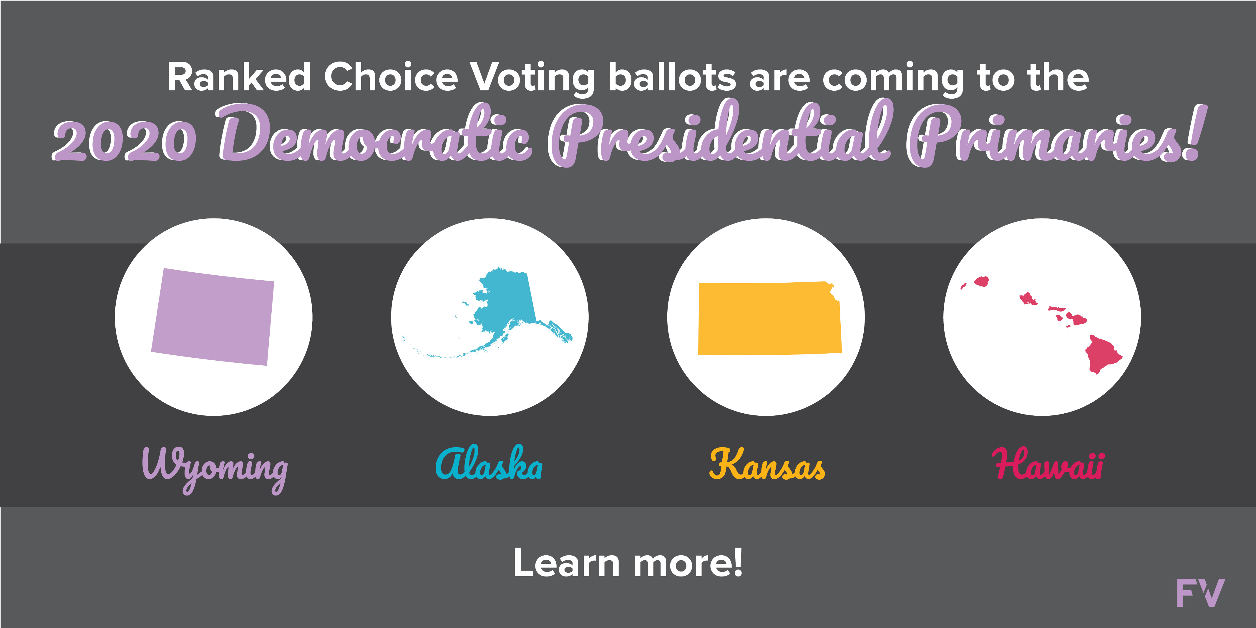 4 State Democratic Parties are ready to use ranked choice voting for their Presidential Primaries