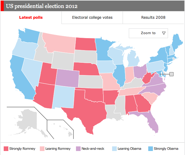Swing States Of America Candidate Tracker And News July 24 Fairvote - 2012-us-presidential-election-map