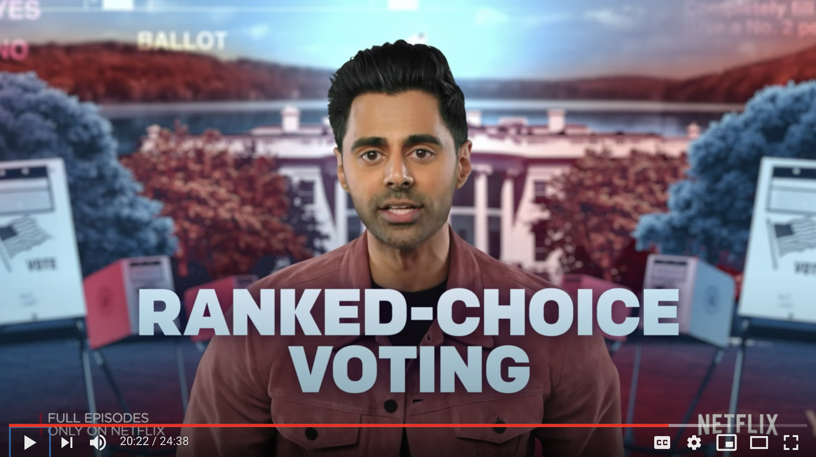 Hasan Minhaj Endorses Ranked Choice Voting In Episode of Patriot Act