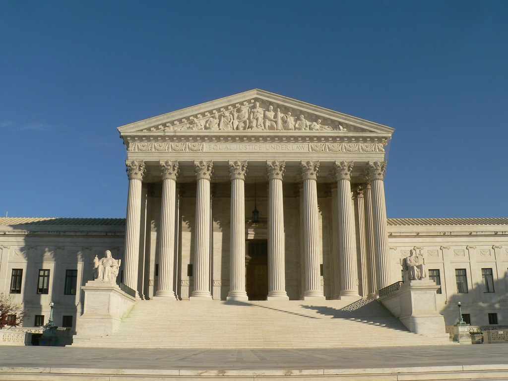 Image of the Supreme Court of the United States in sunlight