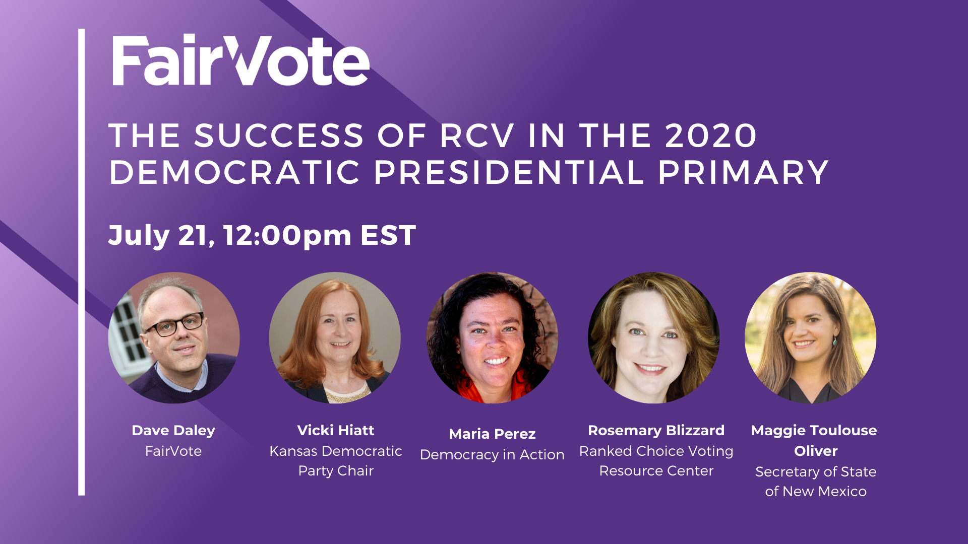 FairVote Webinar Rewind: The Success of RCV in the 2020 Democratic Presidential Primary