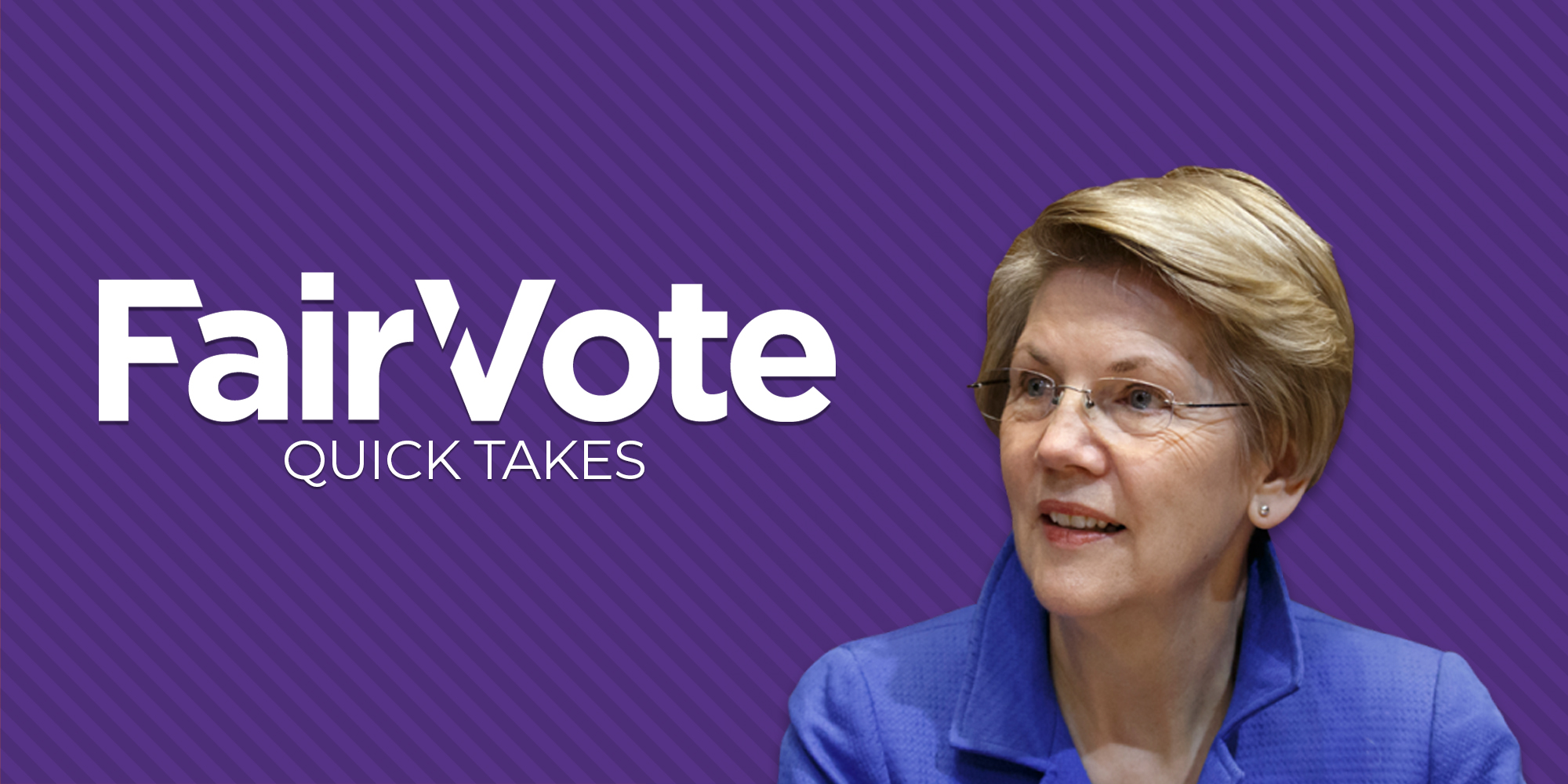 Elizabeth Warren Endorses Ranked Choice Voting