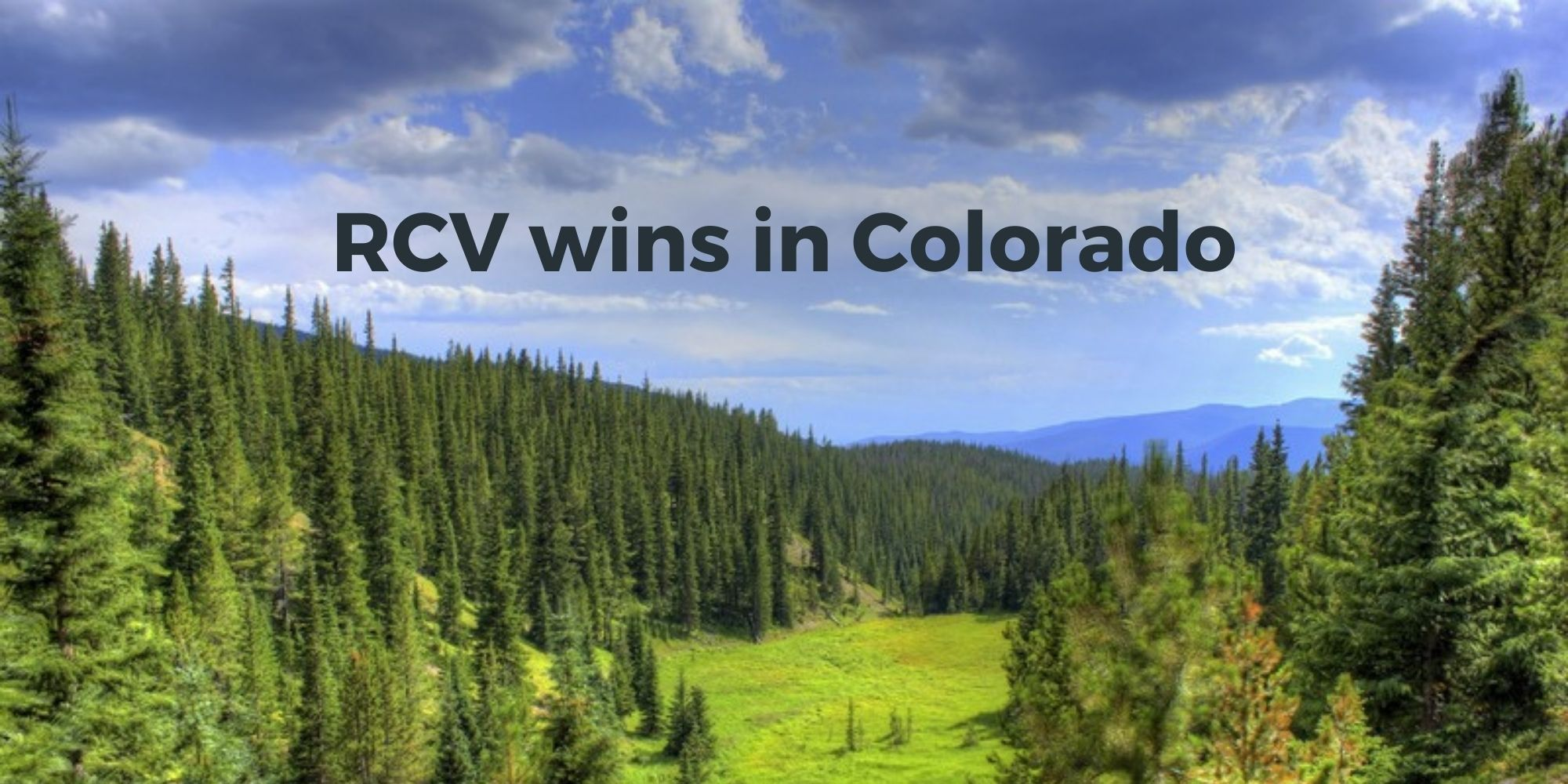 Major win for ranked choice voting in Colorado
