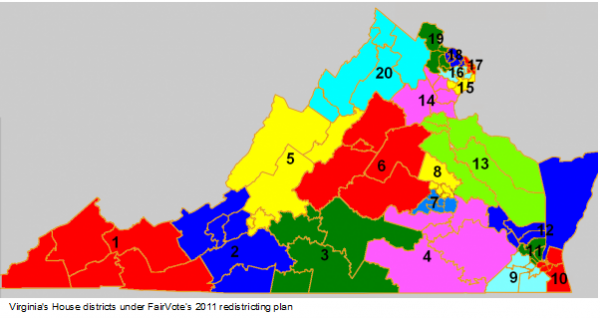 FairVote's 2011 Redistricting Plan for VA