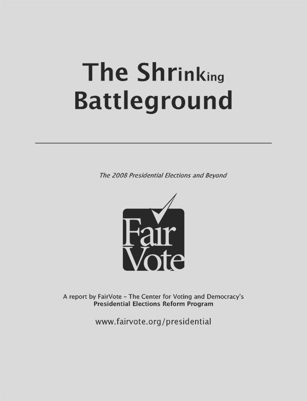 Shrinking Battleground Report Cover