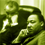 Lyndon Johnson & Martin Luther King Jr.
