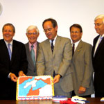 Congressmen and gerrymandered cake