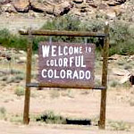 Welcome to Colorado road sign