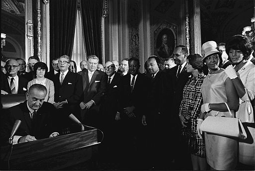 LBJ Signing the Voting Rights Act