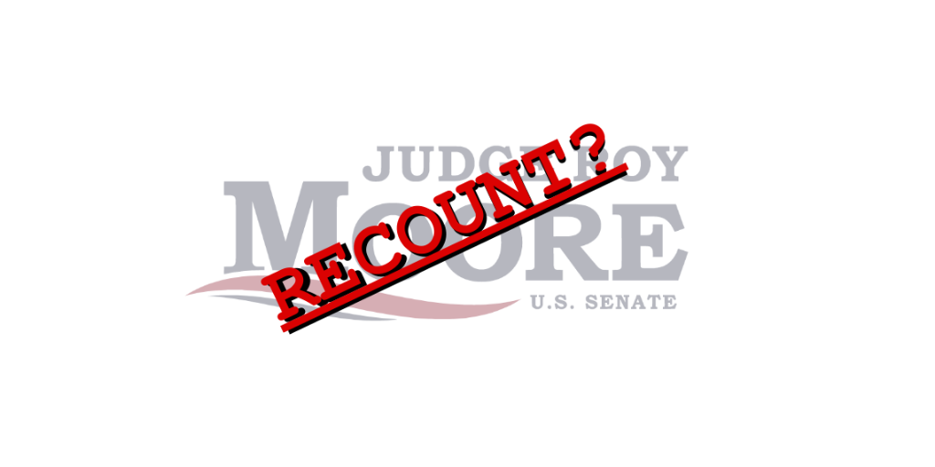 Why a recount won't elect Roy Moore