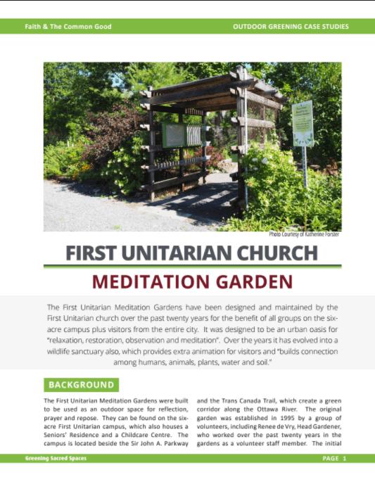 First Unitarian First Unitarian U2013 Meditation Garden
