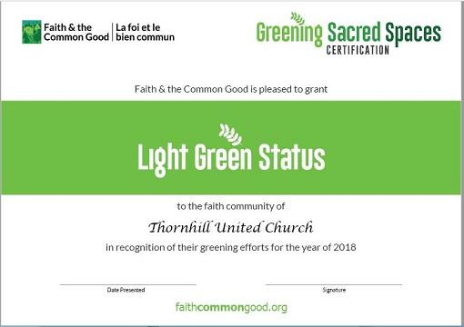 Light Green Certifcate
