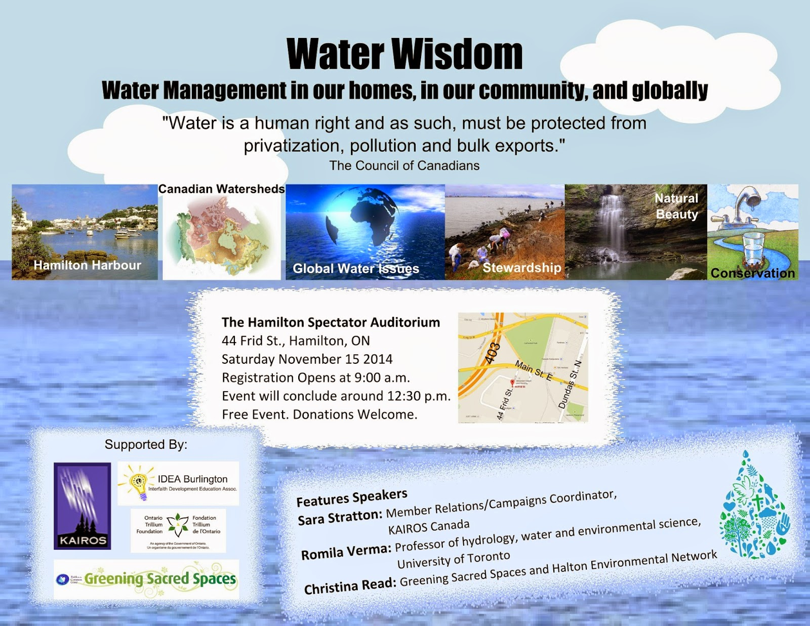 Water Wisdom event poster