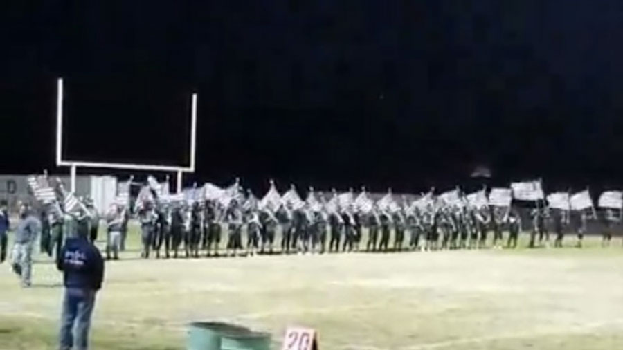 Watch How One High School Football Team Honored The American Flag