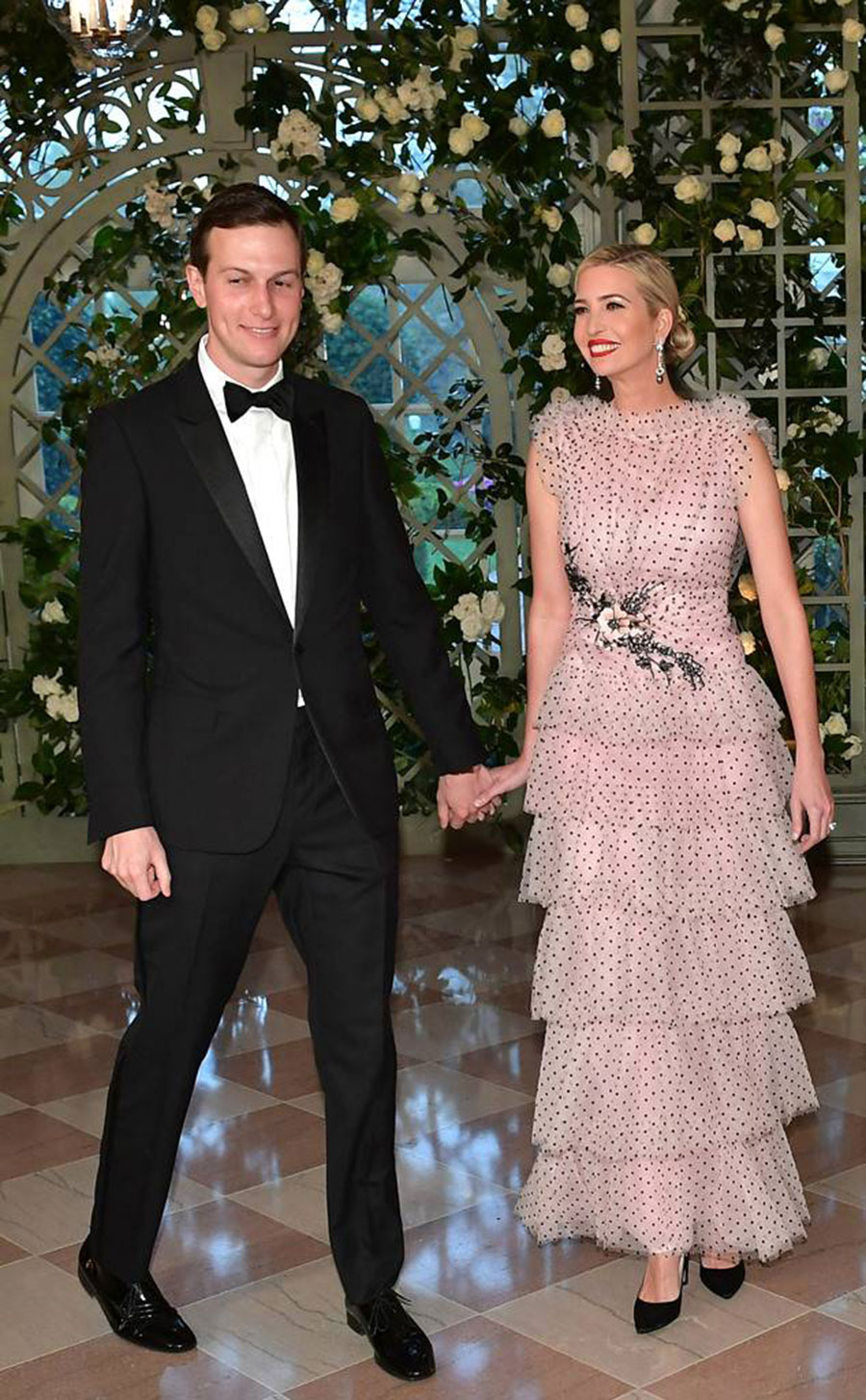 Ivanka Trump Is All Smiles in Dreamy Gown at French State Dinner ...