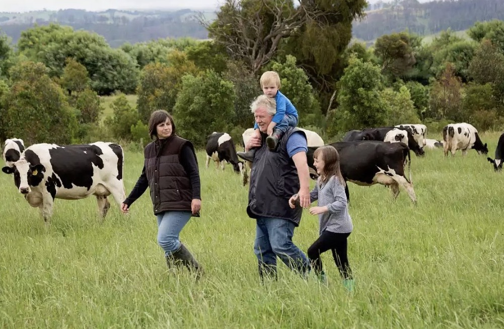 Farmer Marian MacDonald and family