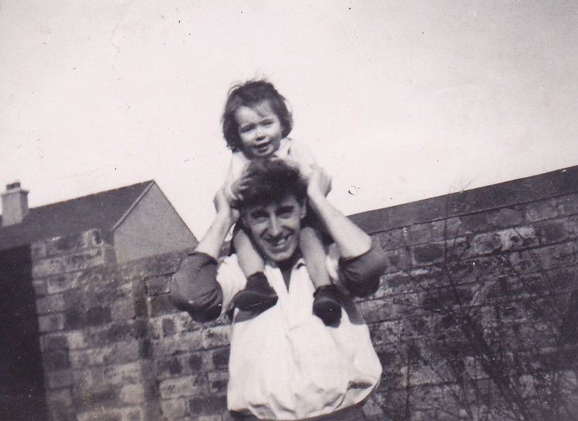 Ann & her dad in 1953