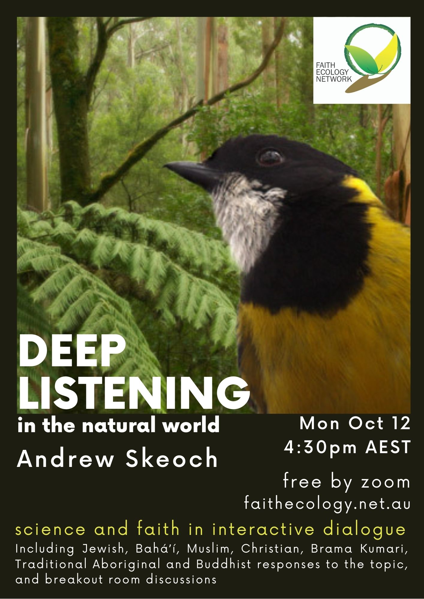 Draft poster for FEN Deep listening event
