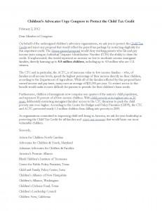 CTC Child Advocate Sign on Letter 2 2 12 PDF