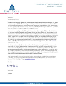 Letter to Congress on S 2221_0