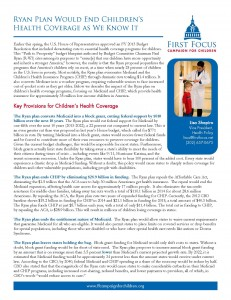 Ryan Plan Would End Children's Health Coverage as We Know It_Page_1