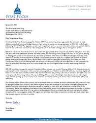 FFCC Letter to King HR140
