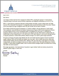 Public Charge Amendments Letter