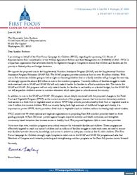 Farm Bill House Floor Letter