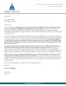 FFCC Support Letter for Senate LaborH Approps