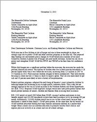 Farm Bill Conference Letter