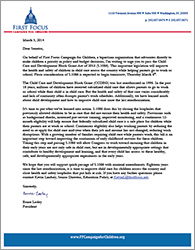 CCDBG Reauthorization Floor Vote Letter