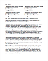 Budget Coalition Appropriations Letter