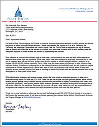 Foster Care Sex Trafficking Letter