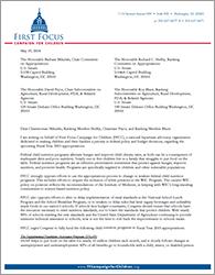 2015 Ag Appropriations Letter - Senate