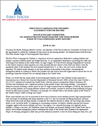 Child Refugees Statement - House Judiciary Hearing