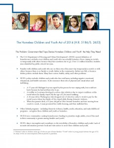 The Homeless Children and Youth Act of 2014- September 29