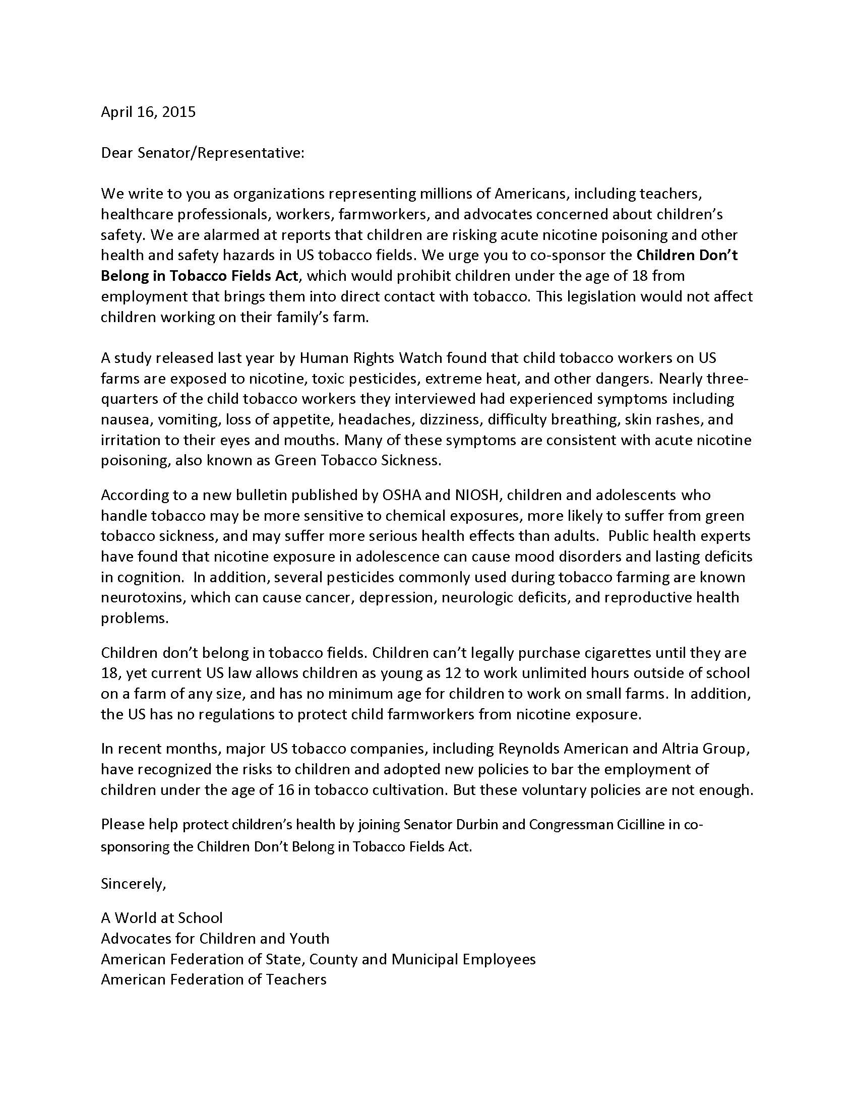 NGO letter supporting Children Don't Belong on Tobacco Farms Act_Page_1