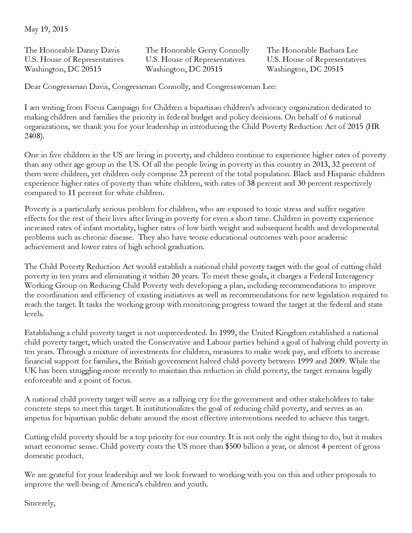 Letter of Support for Child Poverty Target Legislation_Page_1