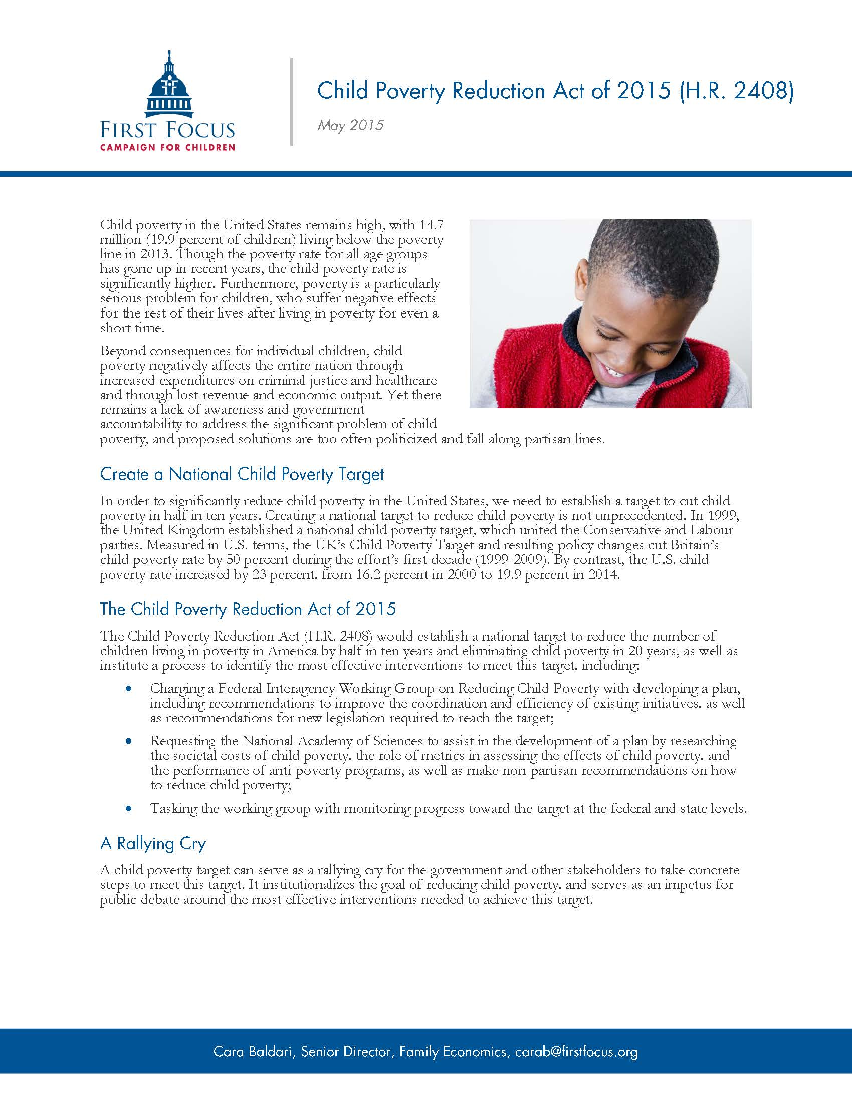 Child Poverty Reduction Act of 2015