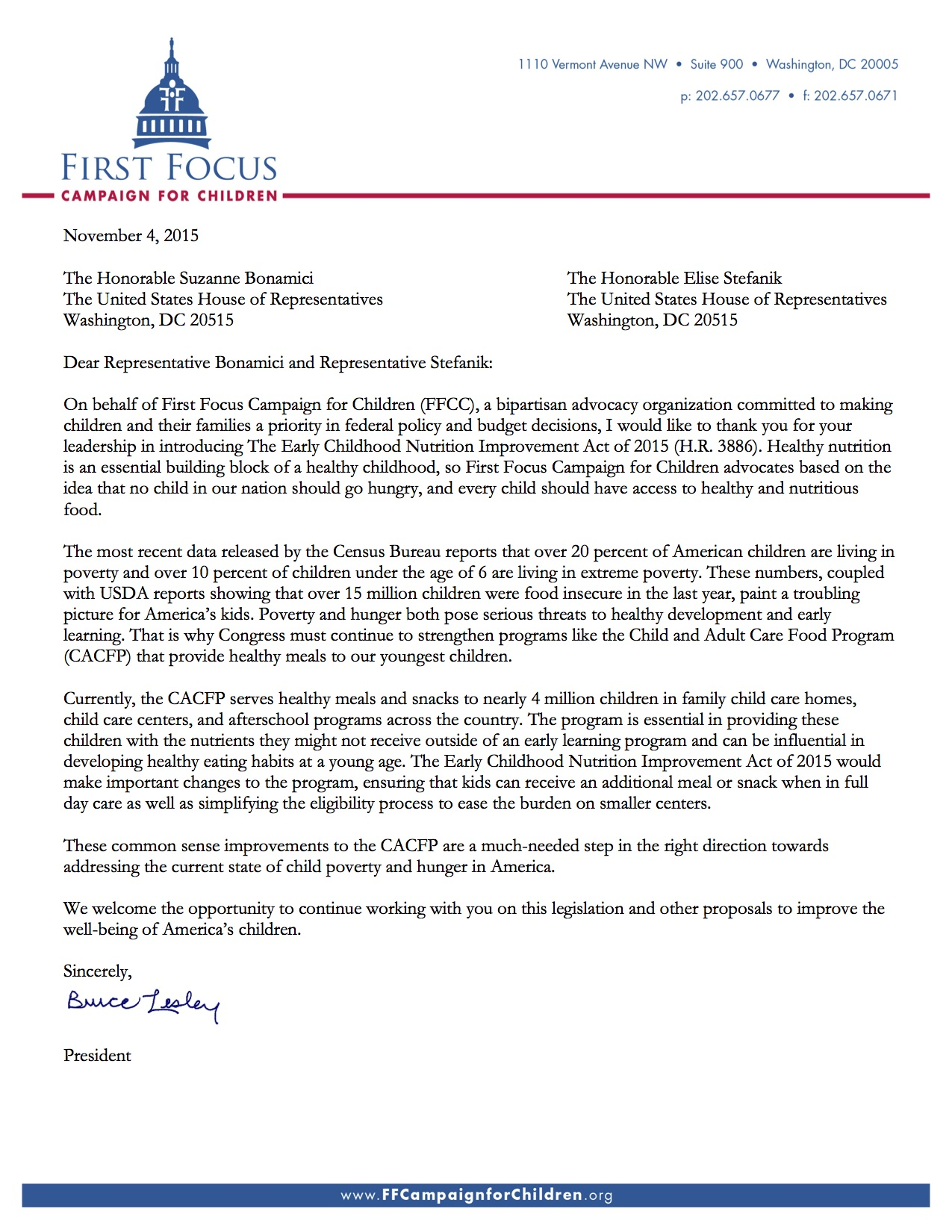 Early Childhood Nutrition Improvement Act Letter[1]