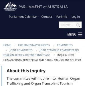 Parliament Organ Trafficking