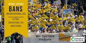Vic Gas Ban Rally