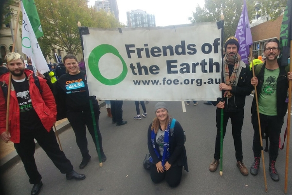 Friends of the Earth at the union run Change the Rules rally