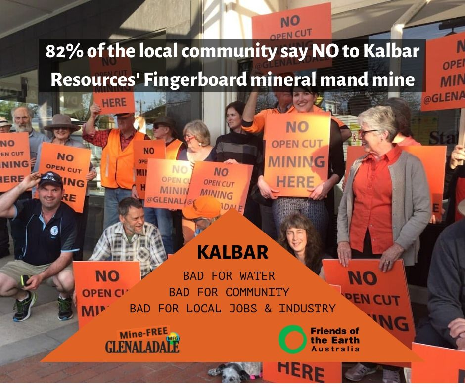 82% of the local community say NO to Kalbar Resources' Fingerboard mineral mand mine