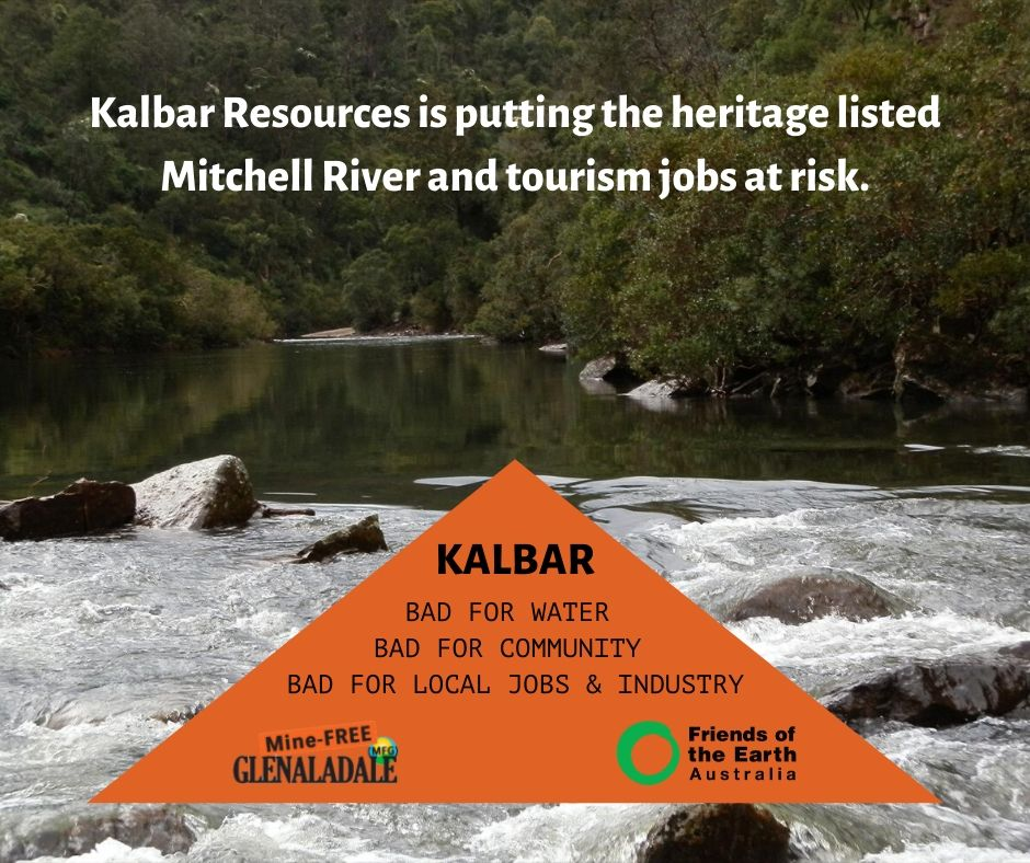 Kalbar Resources is putting the heritage listed Mitchell River at risk.