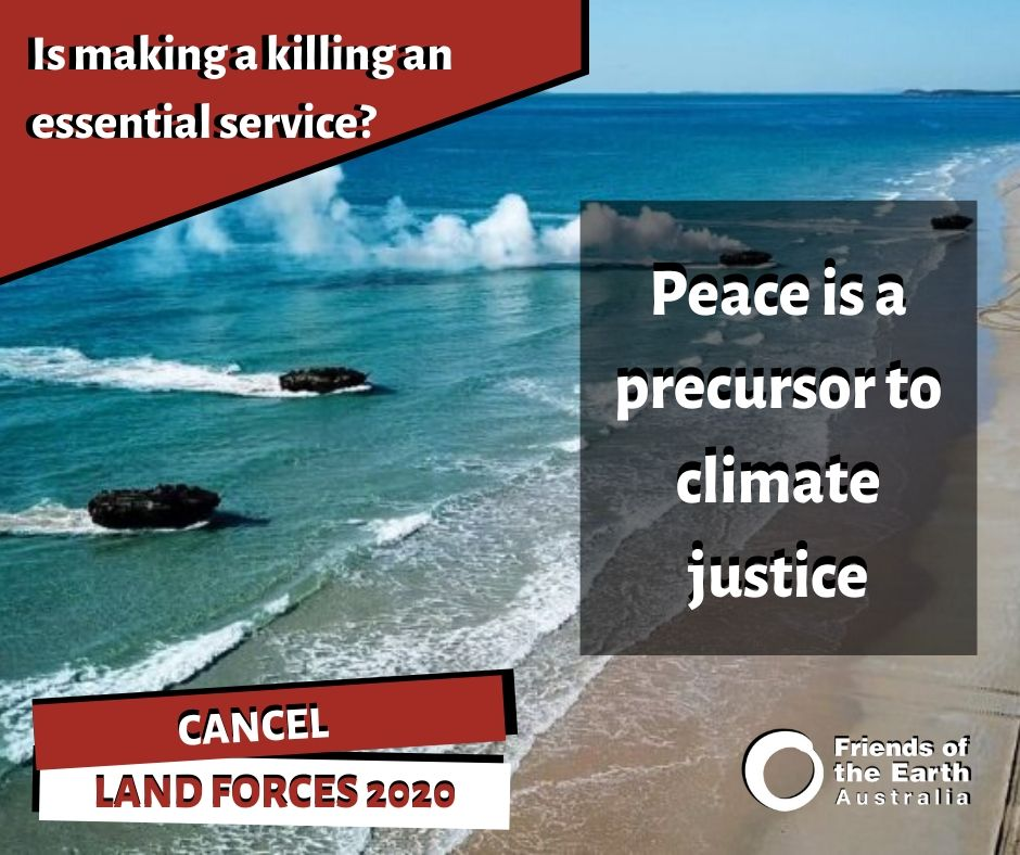Peace is a precursor to climate justice